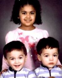 Photo of Adrian, Alexis, and Nayeli Colon, three young children.