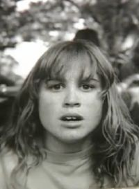 Black and white photo of Casey Albury, a teenage girl.
