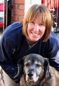Photo of Wendy Blackstone and her dog.