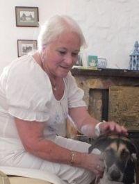 Photo of Brenda Davidson and her dog.