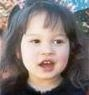 Photo of Lilian Gill, a toddler girl with light skin and dark hair.
