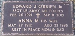 Gravestone of Edward J. O'brien Jr.