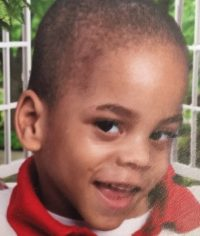 Closeup photo of La'Marion Jordan, a small African-American boy.